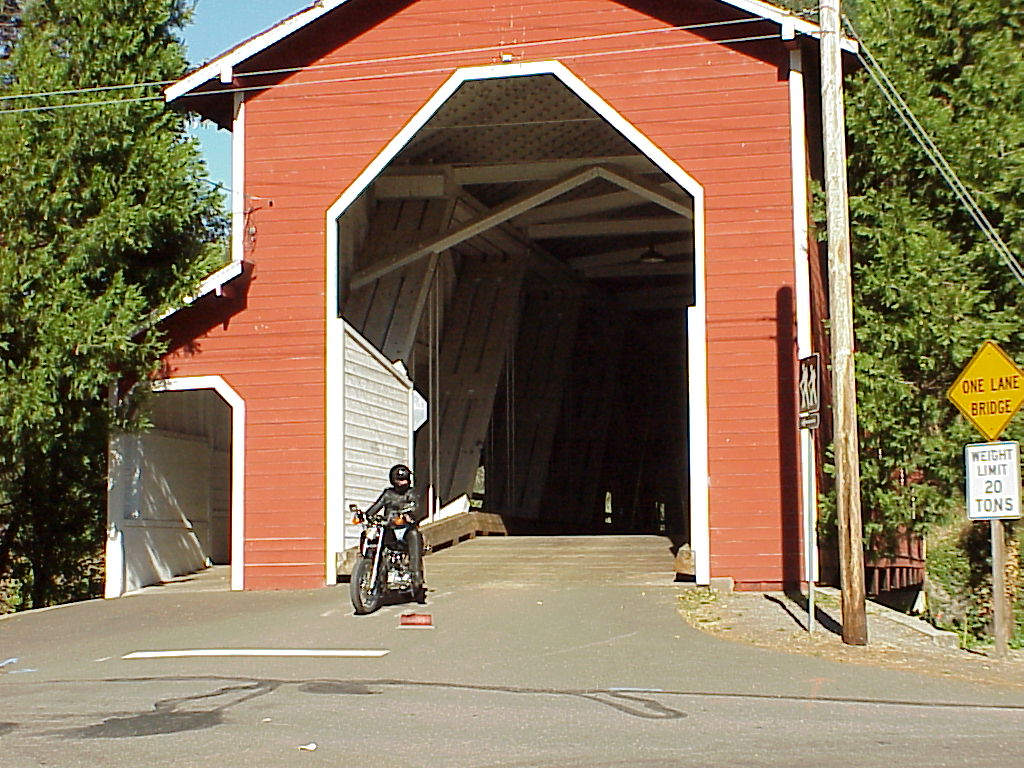 First stop - Another photo of covered bridge