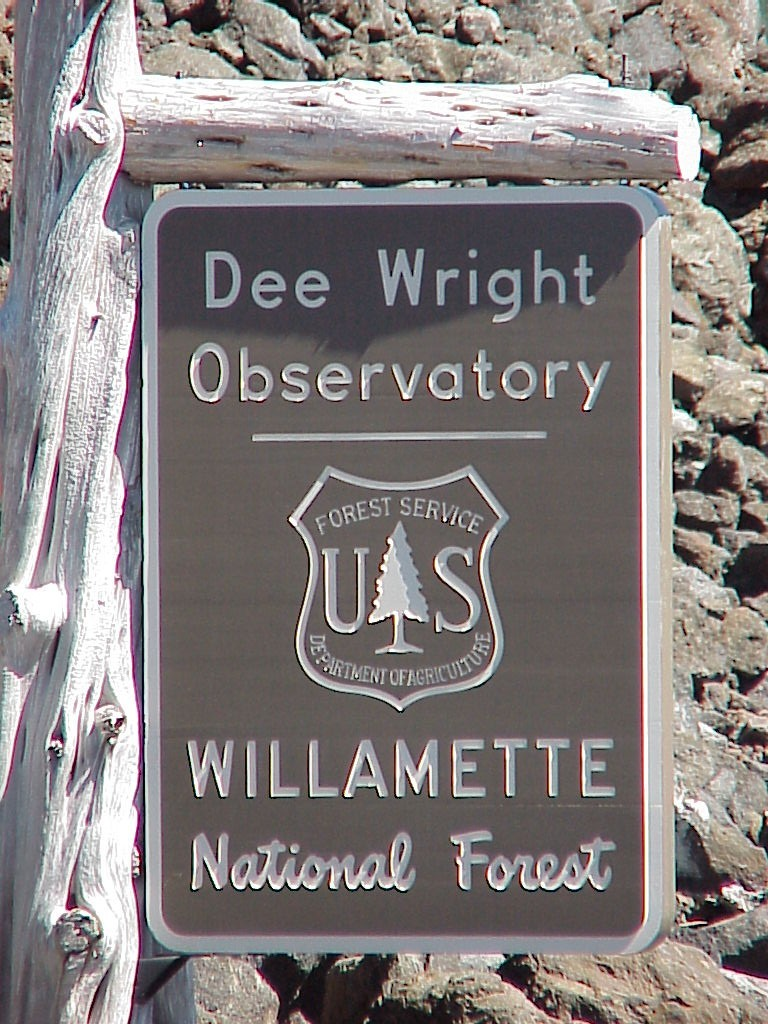 We are here - Dee Wright Observatory