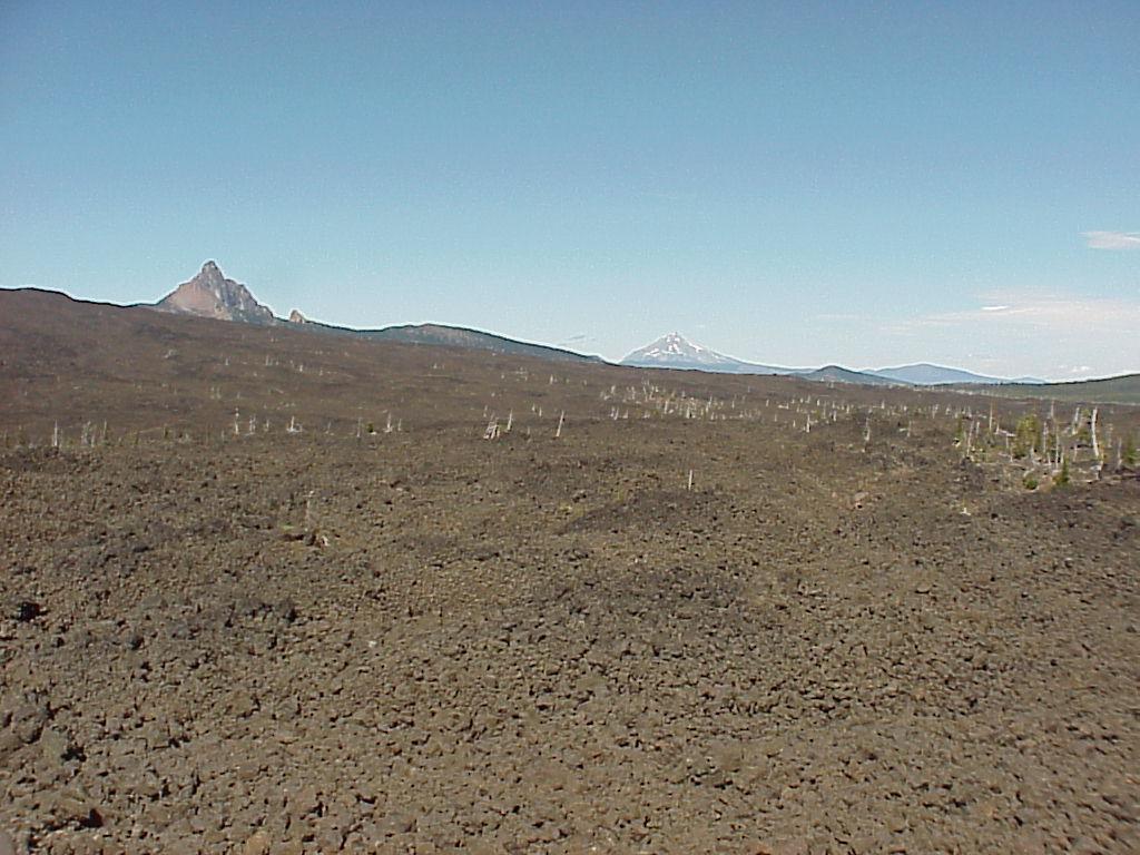 Scenery - Lava flow, Mt. Washington, Mt. Jefferson